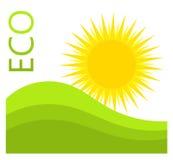 Étiquette d'Eco Images libres de droits