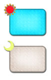 Étiquette d'entretien de Sun et de bulle de lune Photos stock