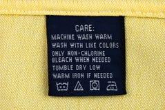 Étiquette d'habillement Photographie stock