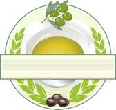 Étiquette d'huile d'olive illustration de vecteur