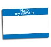 Étiquette d'identification illustration stock