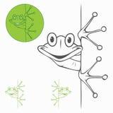 Étiquette d'isolement de grenouille Photo stock