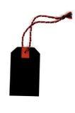 étiquette d'isolement par noir Photo stock