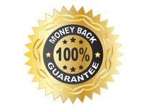 étiquette de 100 garanties Image libre de droits