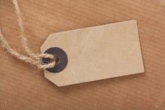 Étiquette de bagage de Brown photo libre de droits
