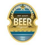 Étiquette de bière Image libre de droits