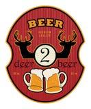 Étiquette de bière illustration stock