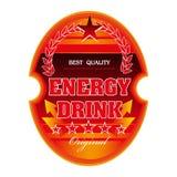 Étiquette de boissons d'énergie illustration de vecteur