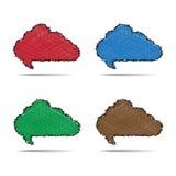Étiquette de bulle de nuage de vecteur Image stock
