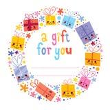 Étiquette de cadeau Images stock