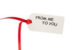 Étiquette de cadeau avec le texte Images libres de droits
