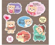 Étiquette de cadeau d'ours de nounours Photographie stock