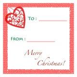 Étiquette de cadeau de Noël Images stock
