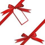 Étiquette de cadeau pendant d'un présent Image libre de droits