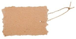 Étiquette de carton Photographie stock libre de droits