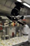 Étiquette de chef de cuillère de couteau Image libre de droits