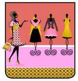 Étiquette de client de silhouette Photo stock