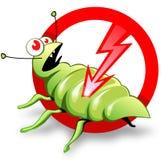 Étiquette de contrôle des parasites  Photo stock