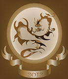 Étiquette de dragon Photo stock