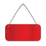étiquette de fond au-dessus de blanc rouge illustration libre de droits