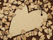 Étiquette de forme de coeur Photographie stock
