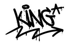 Étiquette de graffiti de roi illustration libre de droits