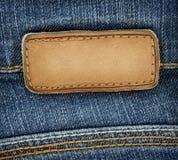 Étiquette de jeans photo stock