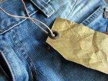 Étiquette de jeans Photos libres de droits