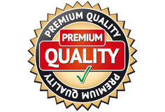Étiquette de la meilleure qualité de qualité Images libres de droits