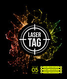 Étiquette de laser avec la cible illustration stock