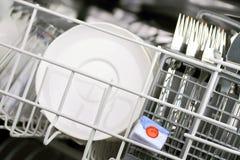 Étiquette de lave-vaisselle Photo stock
