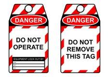 Étiquette de lock-out Photos libres de droits