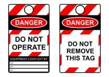 Étiquette de lock-out Photos stock