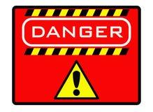 Étiquette de mise en garde dans l'industrie illustration stock