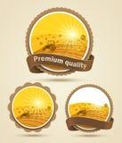Étiquette de moisson de céréale illustration de vecteur