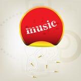 Étiquette de musique avec des connecteurs Images libres de droits