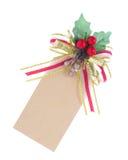 Étiquette de Noël Photos stock