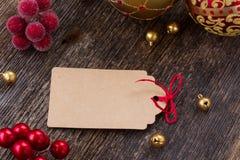 Étiquette de Noël Images libres de droits