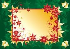 étiquette de Noël de fond Photographie stock libre de droits