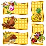 Étiquette de nourriture Images libres de droits