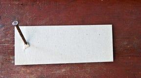 Étiquette de papier Image stock