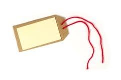 Étiquette de papier avec la corde Photo stock