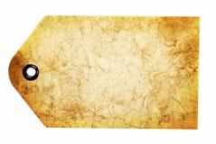 Étiquette de papier beige de cadeau Image libre de droits