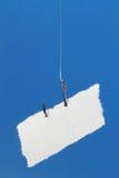 Étiquette de papier blanc sur l'hameçon Photo libre de droits