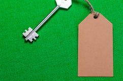 étiquette de papier brun Images libres de droits