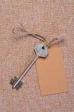 étiquette de papier brun Photo libre de droits