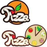Étiquette de pizza Images libres de droits