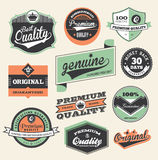 Étiquette de prime et de qualité Images stock