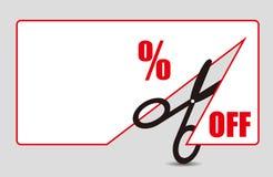 Étiquette de prix discount Photographie stock