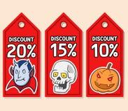 Étiquette de prix discount de Halloween Illustration Libre de Droits